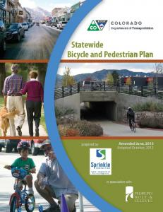 Statewide Bicycle and Pedestrian Plan