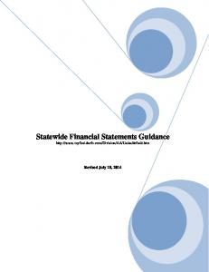 Statewide Financial Statements Guidance