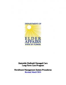 Statewide Medicaid Managed Care Long-Term Care Program