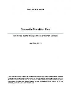 Statewide Transition Plan