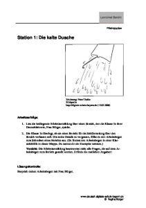Station 1: Die kalte Dusche