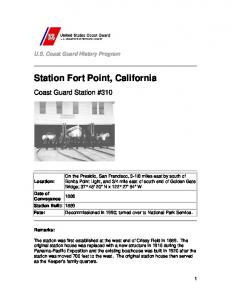 Station Fort Point, California