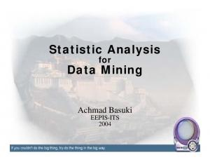Statistic Analysis. Data Mining