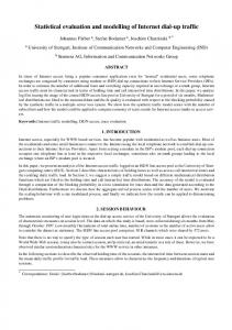 Statistical evaluation and modelling of Internet dial-up traffic