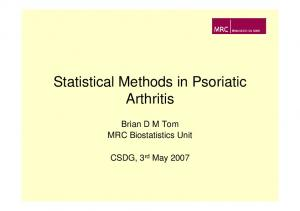 Statistical Methods in Psoriatic Arthritis