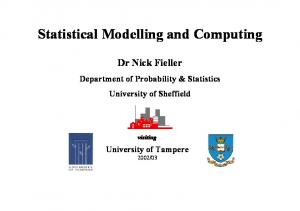 Statistical Modelling and Computing