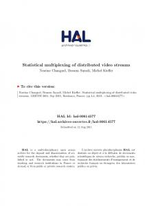 Statistical multiplexing of distributed video streams