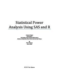 Statistical Power Analysis Using SAS and R