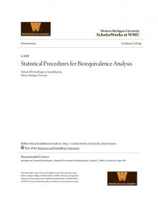 Statistical Procedures for Bioequivalence Analysis