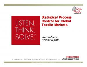 Statistical Process Control for Global Textile Markets