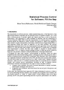 Statistical Process Control for Software: Fill the Gap