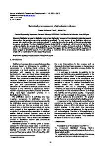 Statistical process control of debutanizer column