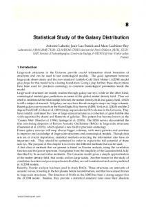 Statistical Study of the Galaxy Distribution