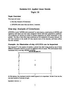 Statistics 512: Applied Linear Models. Topic 10