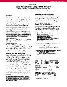 Statistics and Data Analysis. Paper