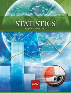 STATISTICS AND PROBABILITY MTH