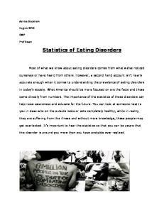 Statistics of Eating Disorders