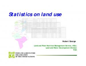 Statistics on land use