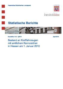 Statistische Berichte