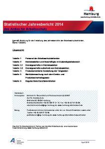 Statistischer Jahresbericht 2014