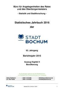 Statistisches Jahrbuch 2016 der