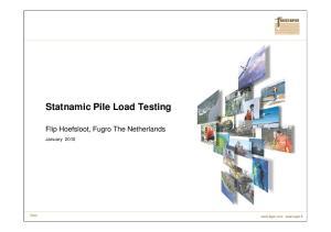 Statnamic Pile Load Testing