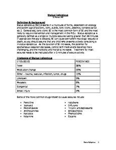 Status Epilepticus D. Franzon, MD