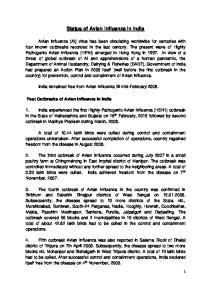Status of Avian Influenza in India