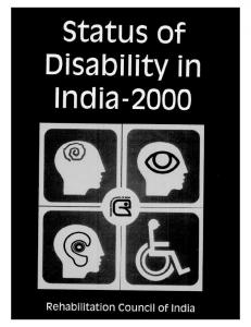 Status of Disability in India