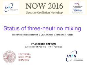 Status of three-neutrino mixing