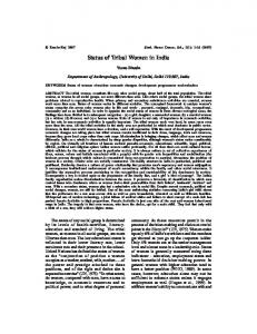 Status of Tribal Women in India