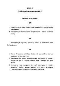 STATUT Polskiego Towarzystwa ADHD