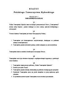 STATUT Polskiego Towarzystwa Rybackiego
