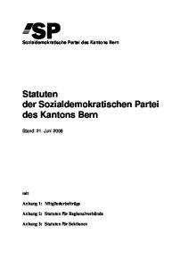 Statuten der Sozialdemokratischen Partei des Kantons Bern