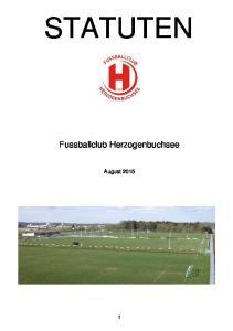 STATUTEN. Fussballclub Herzogenbuchsee