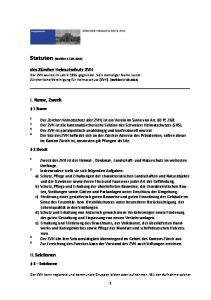 Statuten (Revision )