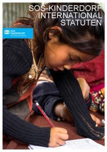 STATUTEN SOS-KINDERDORF INTERNATIONAL STATUTEN