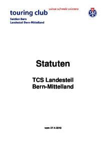 Statuten. TCS Landesteil Bern-Mittelland