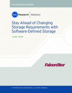 Stay Ahead of Changing Storage Requirements with Software-Defined Storage