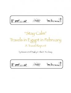 Stay Calm Travels in Egypt in February