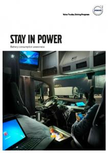 Stay in power. Battery consumption awareness