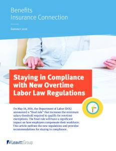 Staying in Compliance with New Overtime Labor Law Regulations