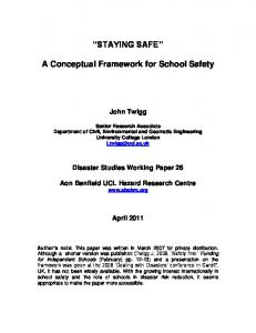 STAYING SAFE. A Conceptual Framework for School Safety