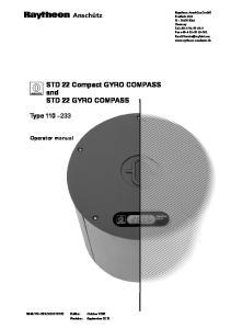 STD 22 Compact GYRO COMPASS and STD 22 GYRO COMPASS