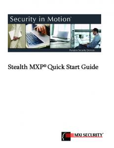 Stealth MXP Quick Start Guide
