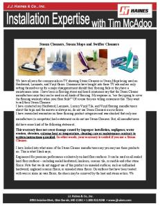 Steam Cleaners, Steam Mops and Swiffer Cleaners