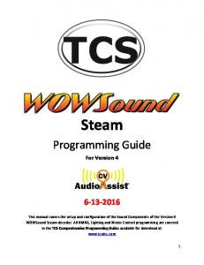 Steam. Programming Guide. For Version