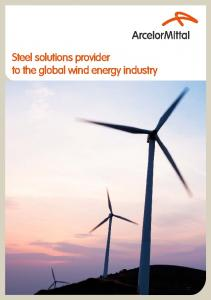 Steel solutions provider to the global wind energy industry