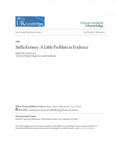 Stella Kenney: A Little Problem in Evidence