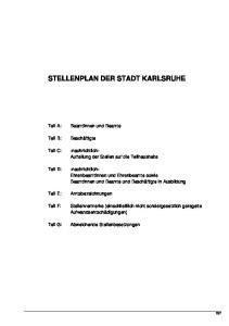 STELLENPLAN DER STADT KARLSRUHE
